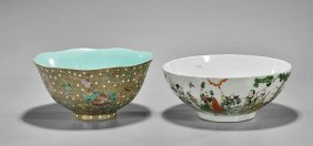 Two Chinese Enameled Porcelain Bowls