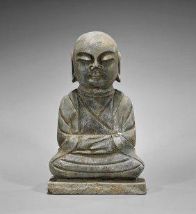 Large & Heavy Korean Stone Buddha
