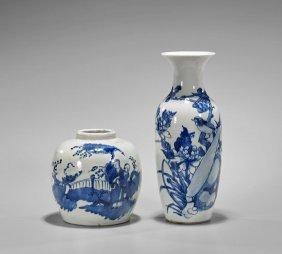 Two Kangxi-style Blue & White Porcelains