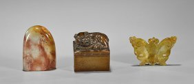 Three Chinese Carvings: Seals & Pendant