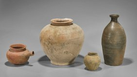 Four Chinese Pottery Vessels