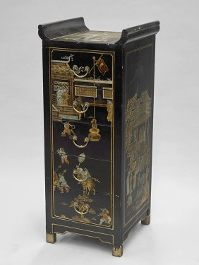 Chinese Painted Five-drawer Chest