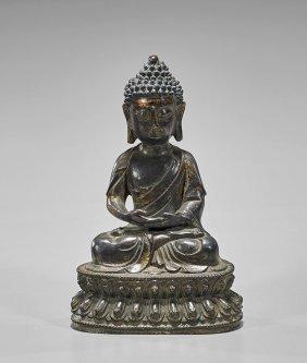 Ming-style Bronze Seated Buddha