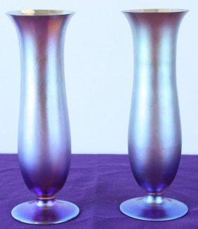 Tiffany & Co. Iradescent Bud Vases