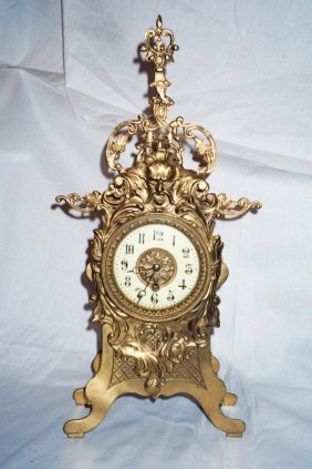 French Brass Clock