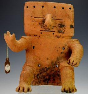 Quimbaya Seated Male Figure