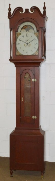 John Samuel Krause Sheraton Tall Case Clock