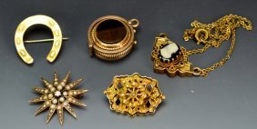 Victorian 10k Yg Jewelry Grouping