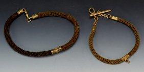Victorian Woven Hair Watch Chains