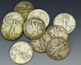 Walking Liberty Silver Half Dollar Grouping