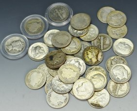 Us Silver Dime Grouping