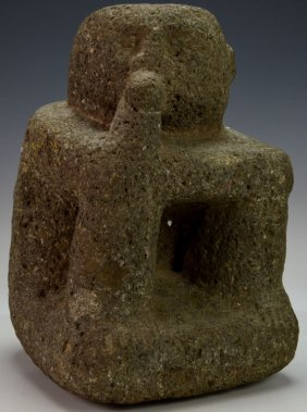 Costa Rican Volcanic Stone Squatting Figure : Phil