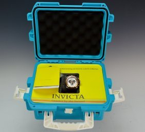 Invicta Ceramic Wrist Watch & Water Proof Case
