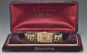 14k Rose Gold Bulova Wristwatch