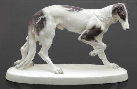Stehender Windhund (barsoi/greyhound) Wiener