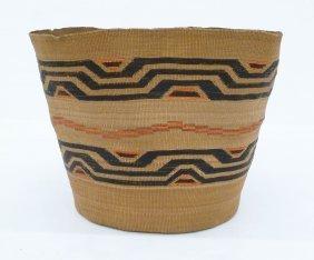 Antique Tlingit Large Indian Basket 8''x10''. Spruce