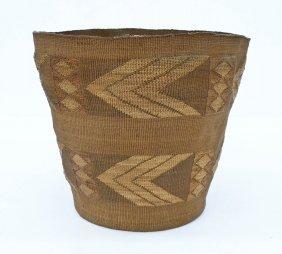 Antique Tlingit Large Indian Basket 8.25''x9''. Spruce