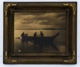 Edward Curtis (1868-1952 American) ''homeward '' 1898
