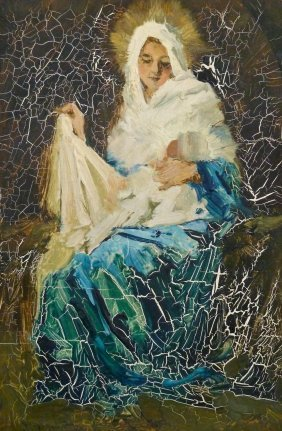 Eustace Ziegler (1881-1969 Alaskan) Untitled Madonna &