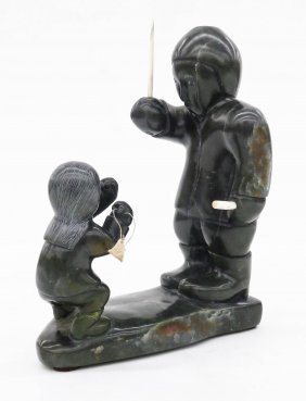 Samson Kingalik (1937-2010 Inuit) David & Goliath