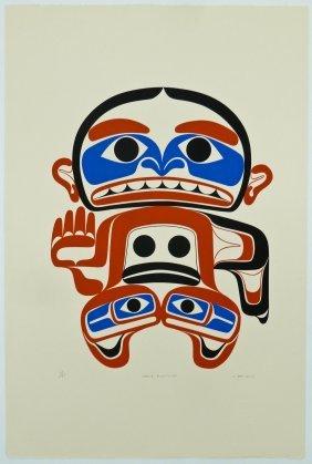 Joe David (b.1946 Nuu-chah-nulth) ''hanu-qwatchu'' 1977