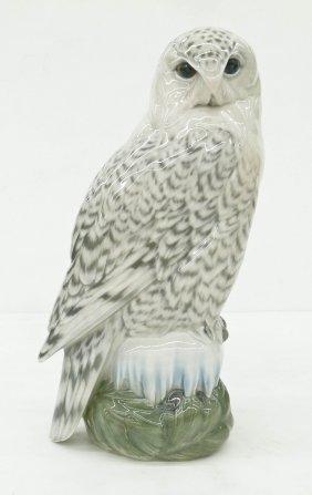 Royal Copenhagen 1829 Snowy Owl Porcelain Figure