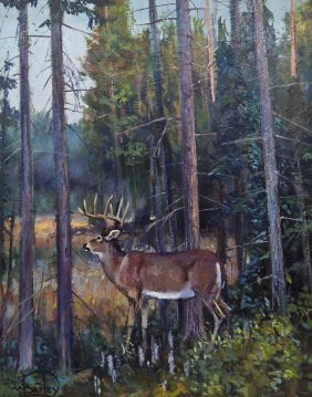 William Bailey (b.1944 American) Untitled Deer In