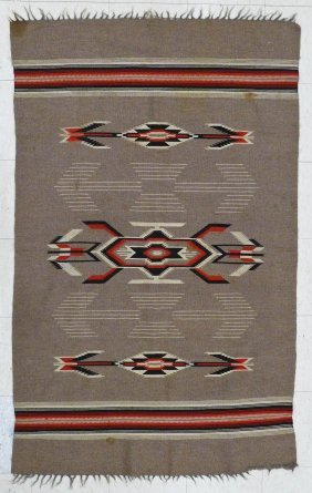 2pc Old Serape Weavings 52''x86'' And 45''x71''.