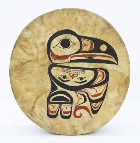 """William """"joey"""" Bolton (20th Cent. Alaskan) Painted Rave"""