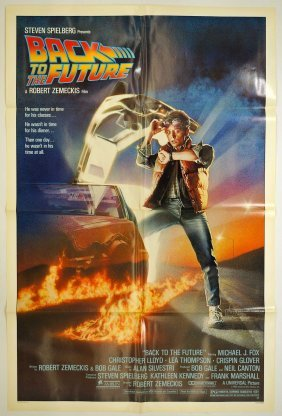 Back To The Future Original Movie Poster. 1985 One