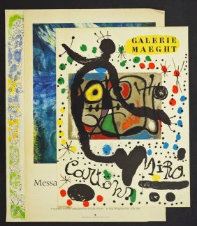 Group Three Exhibition Posters, Joan Miro, Marc