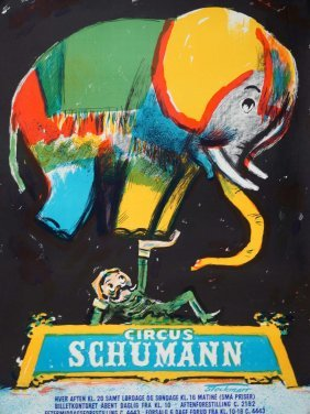 Circus Schumann Poster By Stockmarr, 33 1/2'' X 25
