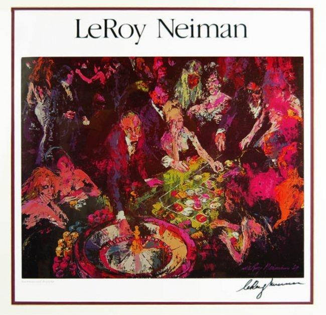 LeROY NEIMAN PROMOTIONAL PICTURE RENDEZVOUS A LA CORVETTE