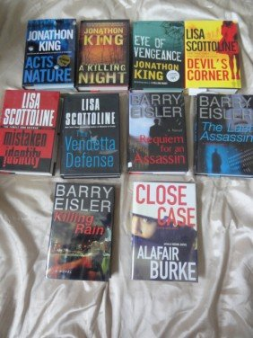 10 AUTHOR HAND SIGNED BOOKS