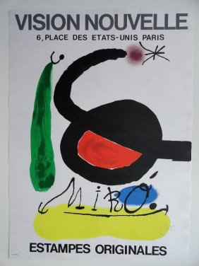 "MIRO LITHO "" VISION NOUVELLE"" PENCIL SIGNED"