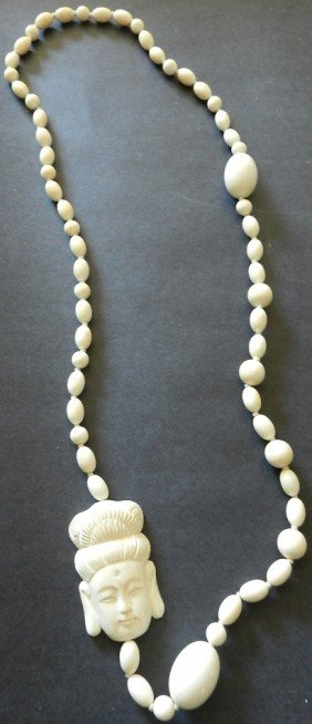Oriental Ivory Bead Necklace
