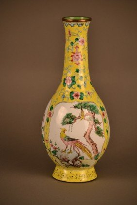 Enamel Canton Vase