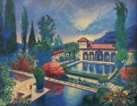 "RAFFI JACOBIAN ""THE ALHAMBRA"" OIL PAINTING"
