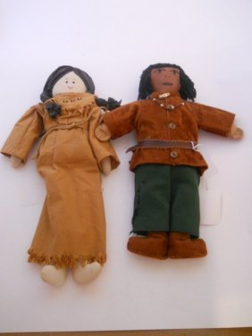 1940s INDIAN DOLLS 2PC