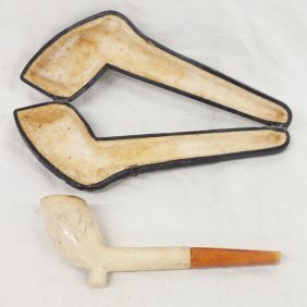 Smoking Meerschaum Pipe With Case