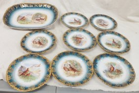 Schierholz Austria Charger And 8 Plates Wild Bird Game