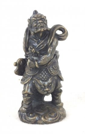 Chinese Warrior Bronze Sculpture