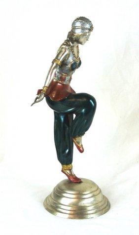 Russian Bronze Ballerina Sculpture, After Diagelev's