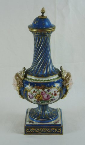 Sevres Style Urn With Lid