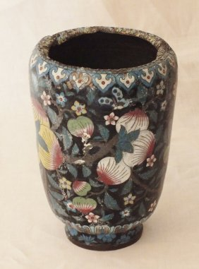Chinese 1800's Cloisonne Vase
