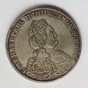 1789 Imperial Russian Ruble Ekaterina Ii