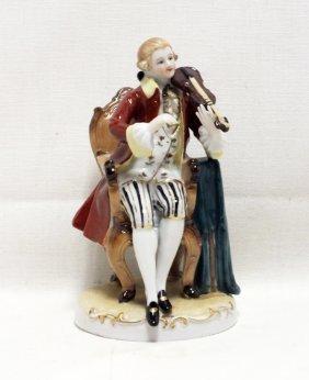 """Meissen Figurine """"playing Violin"""""""