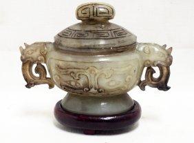 Chinese Jade Incense Burner
