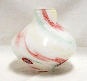 Murano Millefiori Art Glass Vase