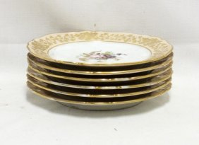Lot Of 6 Hand Painted Plates